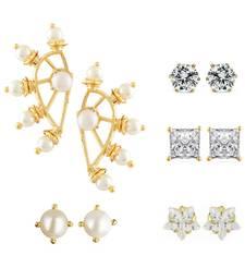Buy White Gold Plated Combo of Earring combo-earring online