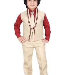 Buy Red cotton poly coats for kids boys-indo-western-dress online