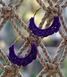 Buy purple handmade crochet hoops hoop online