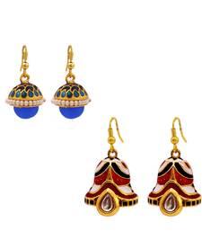 Buy Designer Multicolor Meenakari Jhumki earring Combo combo-earring online