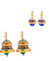 Buy Jingle bell-shaped and drop-shape earring Combo combo-earring online