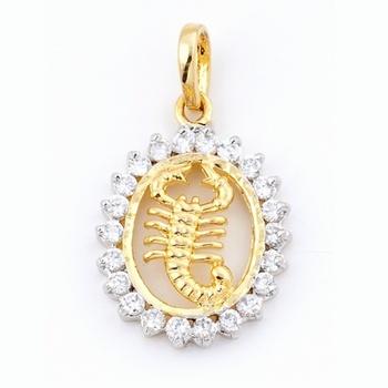 Scorpio Silver Pendant With American Diamonds_08