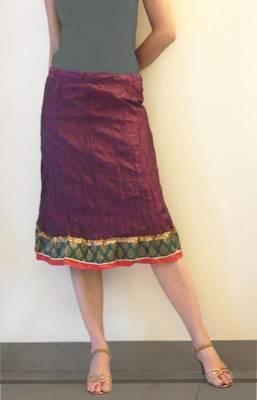 The Crinckle Wine Skirt