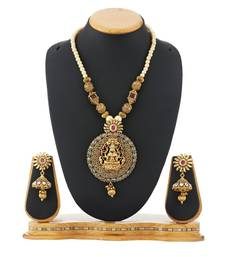 Buy Traditional Temple Necklace Set Pearl Jewellery necklace-set online