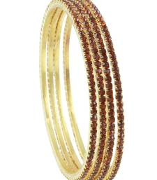 Buy Brown Polki Stones Bangles Jewellery for Women - Orniza bangles-and-bracelet online