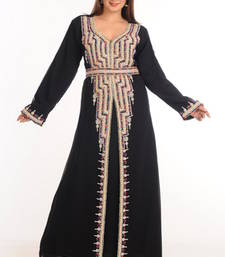 Buy Black georgette embroidered abaya eid-abaya online