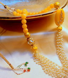 Buy royal pearl and onex broach beads mala Necklace online