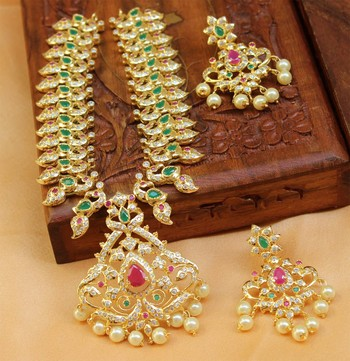 designer  peacock  necklace set with earrings