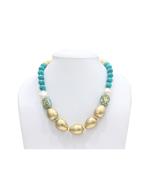 Turquoise Shimmer Ecstasy Necklaces
