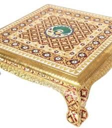Buy Meenakari Chowki in gold color  wedding-gift online