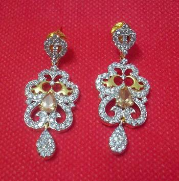 Designer Shining CZ Earrings - Danglers