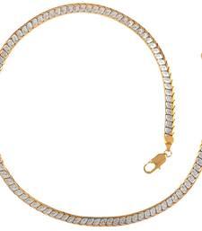 Buy Designer Curb Gold Laser Rhodium Plated  Short Chain Other online