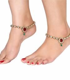 Buy GOLDEN MULTICOLOR ANKLETS diwali-jewellery online