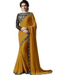 Buy Satin saree by fabkaz (Orange) satin-saree online