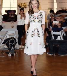 Buy White embroidered georgette dress western-wear online