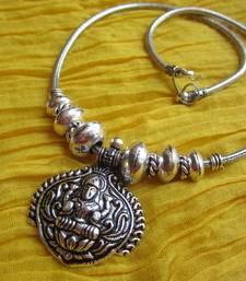 Buy Silver metallic metal necklaces Necklace online
