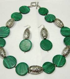 Buy Green malachite beaded jewellery necklace sets necklace-set online