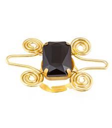 Buy Black crystal stone ring Ring online