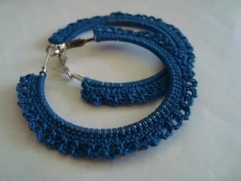 Blue Gypsy Hoops