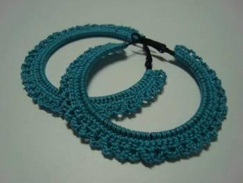 Turquoise Gypsy Hoops