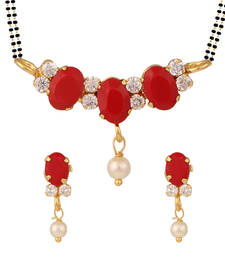 Buy Orange mangalsutra set mangalsutra online