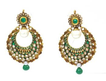 Ethnic polki long earring