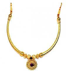 Buy Hasli Necklace traditional Maharashtrian Pipe thushi necklace-set online