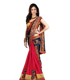 Buy art silk embroidered georgette saree with blouse bridal-saree online