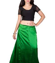 Buy Green satin  petticoat petticoat online