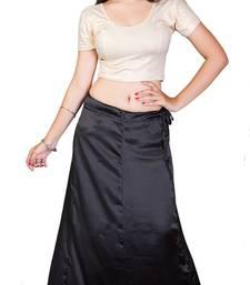 Buy Black satin  petticoat petticoat online