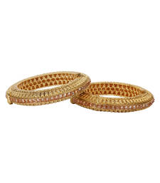 Buy Brown gold plated bangles and bracelets bangles-and-bracelet online