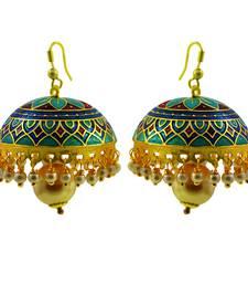 Buy Stunning multicolor meenakari tokri jhumki set jhumka online