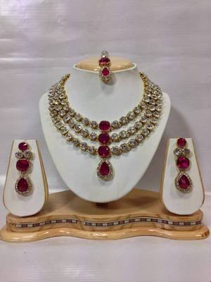 Famous Crystal Jewelry Set in Pink
