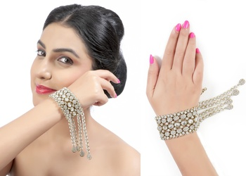 Trendy Austrian Stone Occasion Wear With Sarees Gowns in Gold Finishing Bracelet