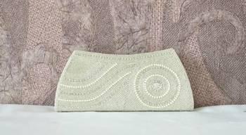 Designer Clutch Handbag Purse Traditional Wedding Indian Handmade Ethnic Beads Sequins Zardozi Work