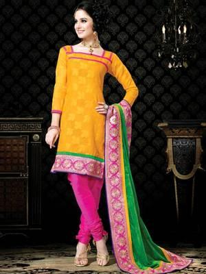 Kalazone Green,Pink,Yellow Super net Salwar Kameez D8239/S3