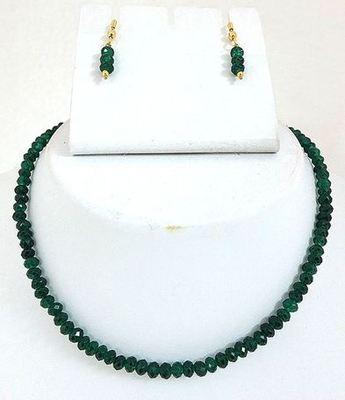 Green cutting beads mala
