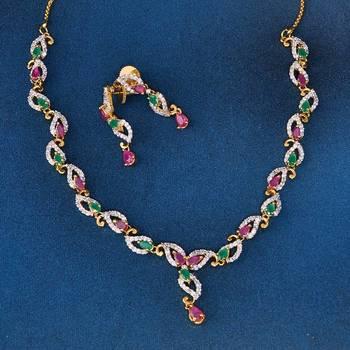 Amazing Designer AD Diamond Necklace