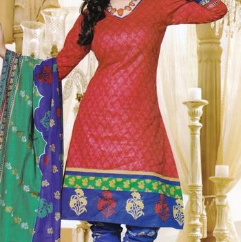 Dress Material Elegant Cotton Printed Unstitched Salwar Kameez Suit D.No M1612