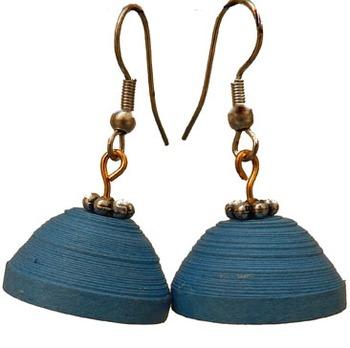 Blue plain party jewellery