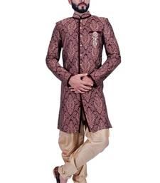 Buy multicolor brocade printed Jodhpuri Sherwani jodhpuri-sherwani online