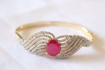 CZ Clip on Bangle
