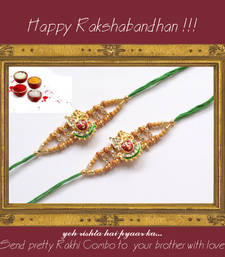 Buy multicolor Beaded Brother Rakhi With one small Dairy Milk rakhi-with-chocolate online