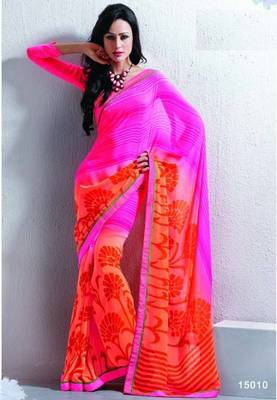 Saree With Unstitched Blouse (15010)