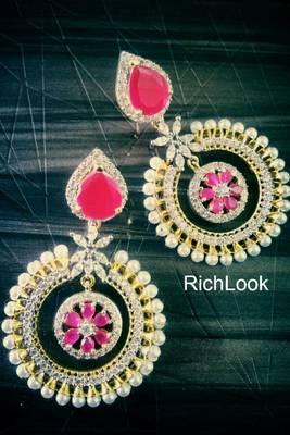 ruby pearl royal earring