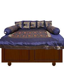 Buy Amazing Blue embroidery diwan set other-home-furnishing online