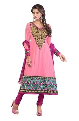 Triveni Floral motif applique worked Salwar Kameez 207
