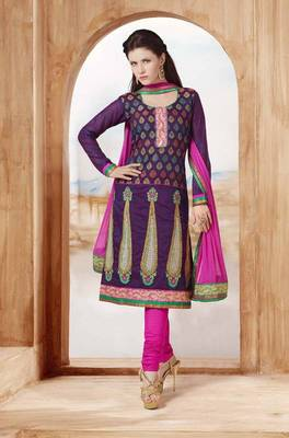 Chanderi Cotton Unstitched Suit