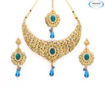 Gold plated diamond necklaces jewelry
