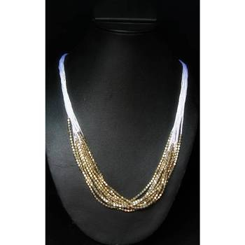 Long Golden Ethnic Necklace